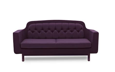 purple settee onkel sofa recognizable scandinavian design fabrics