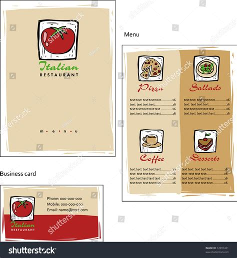 corporate menu card template template designs of menu and business card for coffee shop