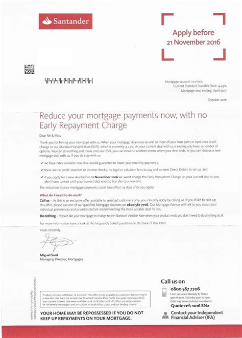 Mortgage Letters To Customers Broker Fury Santander S Move To Attract Clients To Switch Six Months Early Mortgage Solutions