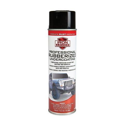spray paint undercoat 17 oz iron armor 174 black professional undercoating spray paint