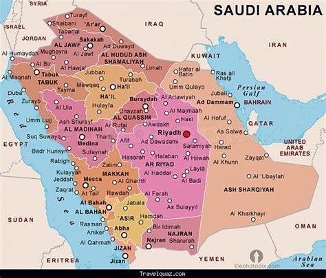 saudi arabia political map map of saidia travelquaz