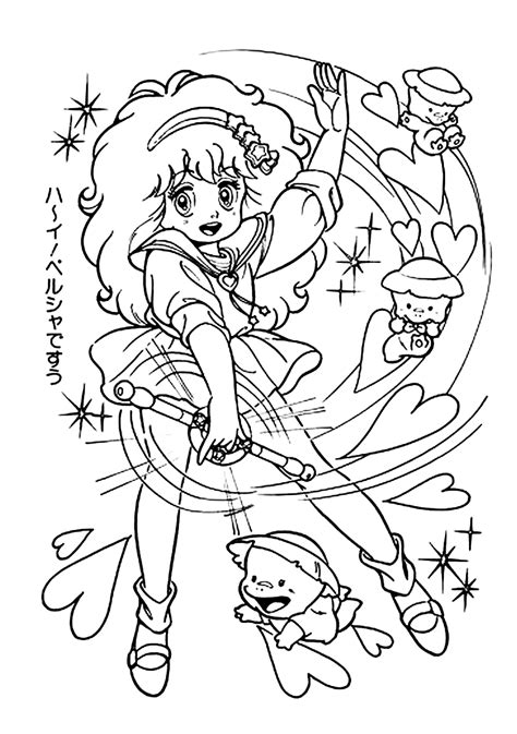 color anime fairy colouring pages