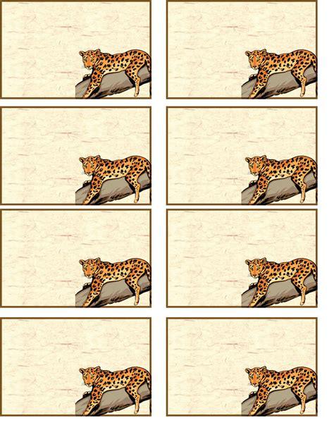 Animal Name Tags Printable