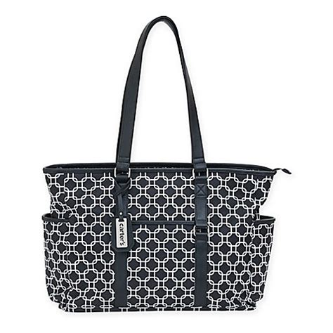 Carters Mini Diapers Bag s 174 studio geo print tote bag in grey buybuy baby