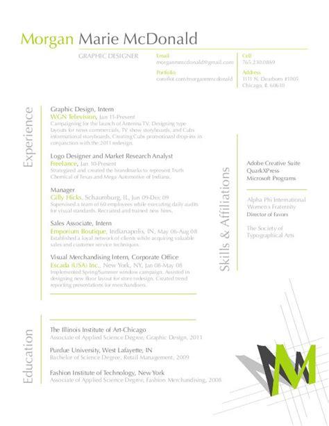resume by mcdonald at coroflot