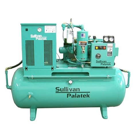 sullivan palatek d series rotary air compressor base mount enclosed acfm 166 load