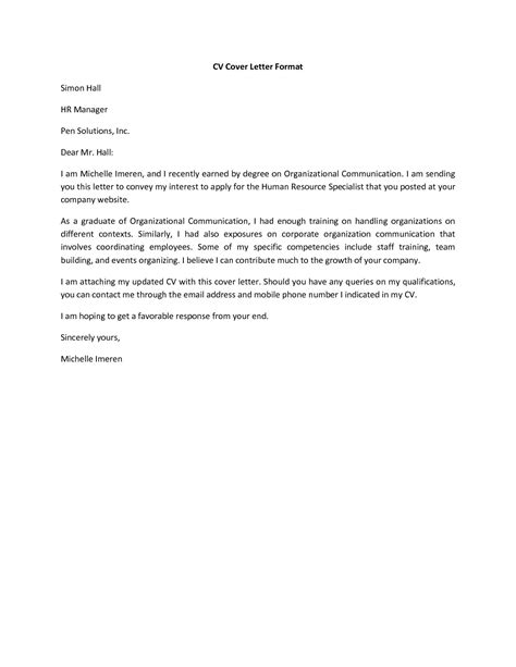 mail format to send resume it resume cover letter sle