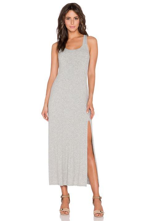Tank Maxi Dress dolan tank maxi dress in gray silver lyst