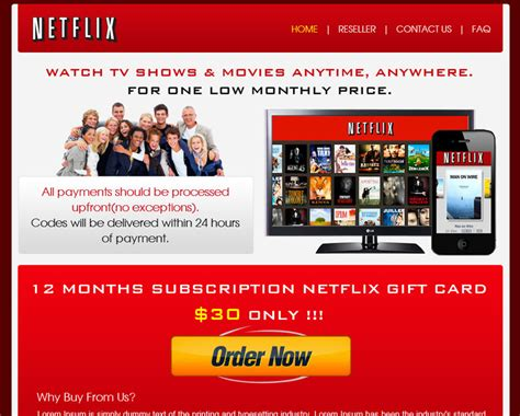 Pay Netflix With Gift Card - landing page landing page design landing page design india