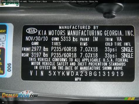 Kia Dealer Code List Kia Color Code Im Titanium Silver Dealerrevs