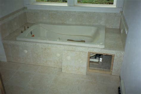 bathtub access panel jacuzzi tub access panel ceramic tile advice forums