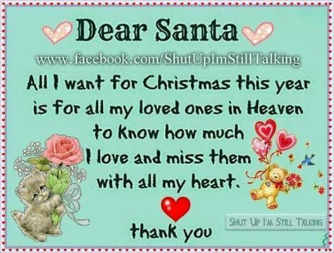 dear santa     christmas  year     loved   heaven pictures