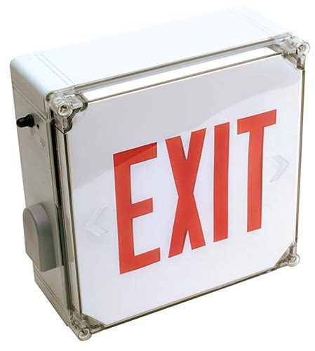 wet location emergency exit light wet location exit signs wet location emergency lighting