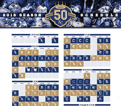 printable kansas city royals baseball schedule 2018 printable schedule kansas city royals