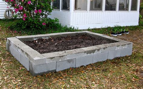 cinder block flower bed creative flower beds with blocks pictures to pin on