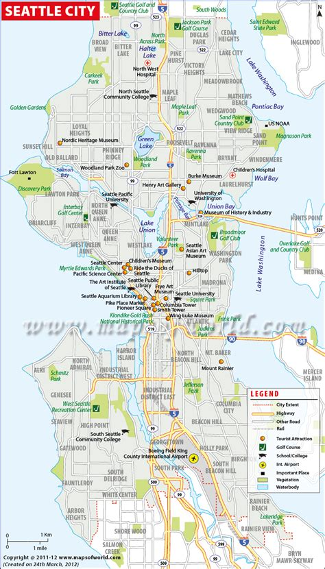 usa city maps maps update 700698 seattle washington map tourist 11