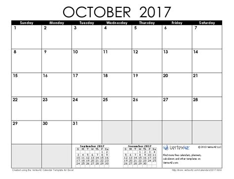 printable agenda october 2017 2017 calendar templates and images