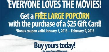 Amstar Gift Card - amstar theaters purchase a 25 gift card get a free popcorn al com