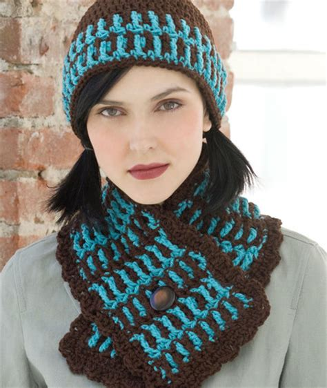 craft passions lake house hat scarf free crochet