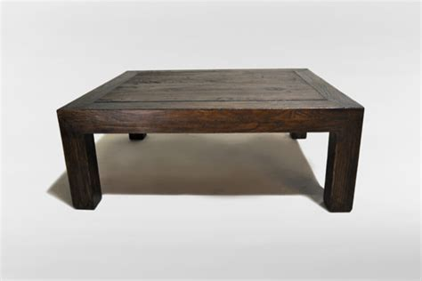 solid elm wood coffee table eclectic coffee