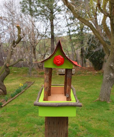 bird feeder post mounting bird feeder rustic bird feeder