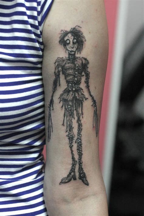 21 edward scissorhands tattoos that will cut your heart up