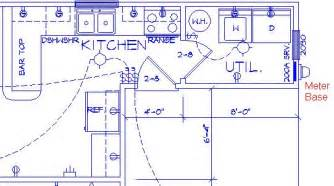 How To Show Electrical Outlets On Floor Plan by Sample Kitchen Electrical Plan Parra Electric Inc