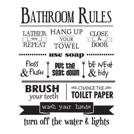 online bathroom quote bathroom rules wall quotes decal wallquotes com