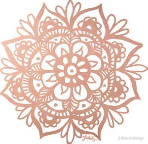 quot rose gold mandala quot stickers by julieerindesign redbubble