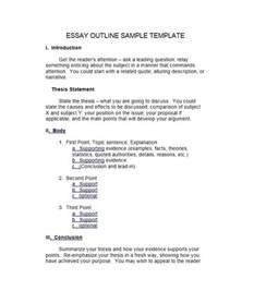 template essay outline 37 outstanding essay outline templates argumentative