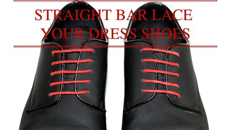 how to lace your dress shoes bar lacing