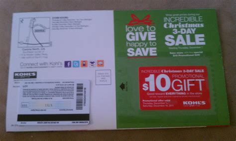 Company Branded Gift Cards - kohls 10 gift card in the mail mega deals and coupons