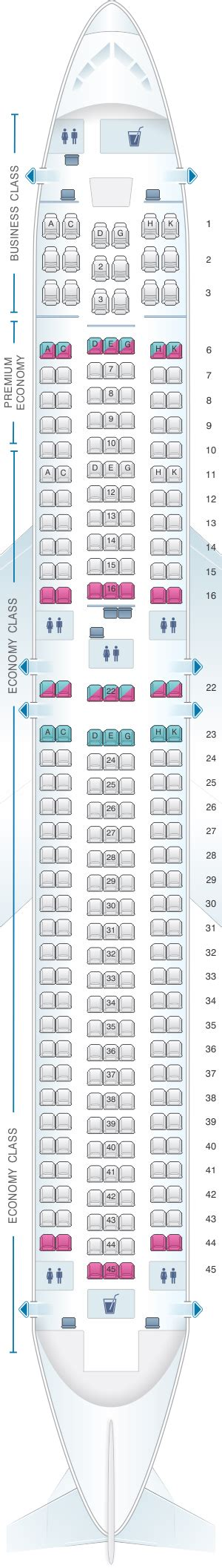 76w aircraft seating 76w boeing