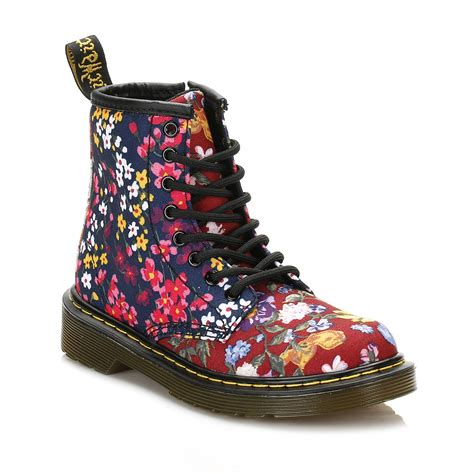 dr martens floral boots delaney fc lace up
