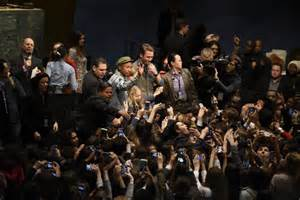 pharrell williams united nations pharrell spreads happy message in united nations speech