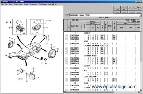 daewoo epc general spare parts catalog cars catalogues