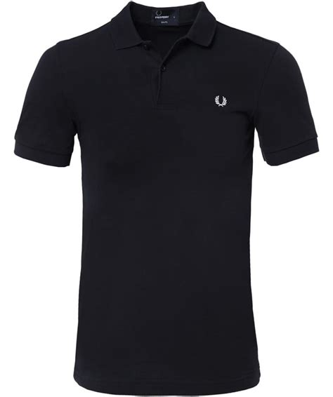 Fred Perry Slim Low fred perry black slim fit plain polo shirt jules b