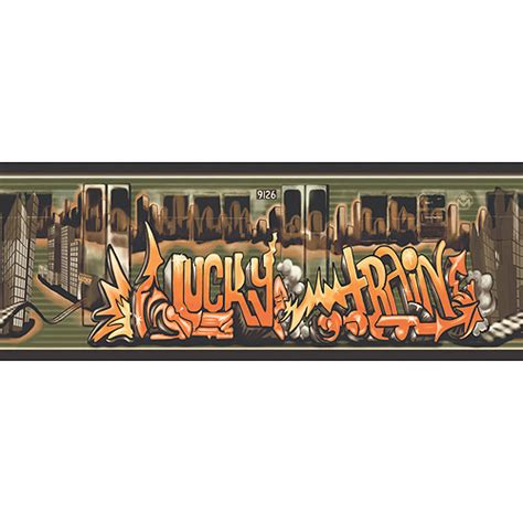 graffiti wallpaper border blue mountain graffiti lucky train wallpaper border black