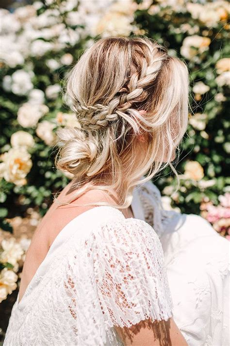 Wedding Hair Braid by Bohemian Wedding Hair Braid Www Imgkid The Image