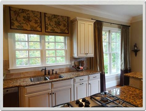 kitchen window treatments curtain ideas for small kitchen window treatments with