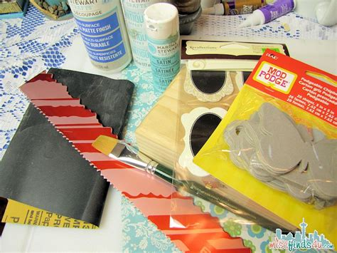 Decoupage Craft Supplies - how to paint a wood box decoupage craft makeover
