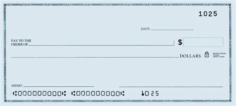 check template printable personal blank check template check blank