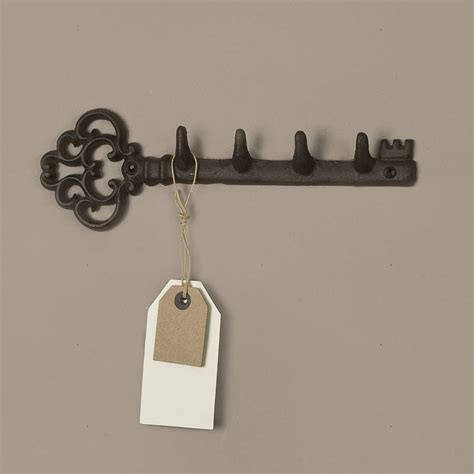traditional cast iron wall key rack by dibor