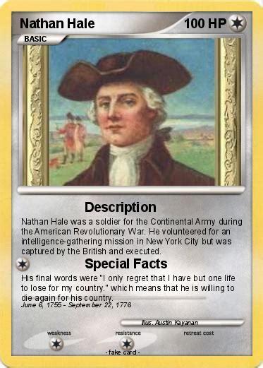 biography george washington american revolutionary viewing quiz pok 233 mon nathan hale 5 5 description my pokemon card