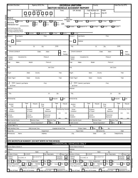 Motor Vehicle Report Form