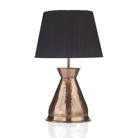Black Table Vase Hammered Copper Vase Table L With Black Silk Shade