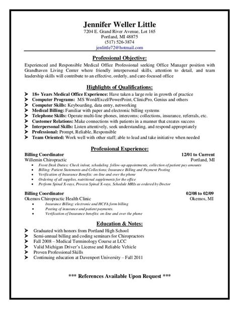 Sample Resume Objectives For Medical Billing by Medical Billing Supervisor Resume Sample Http