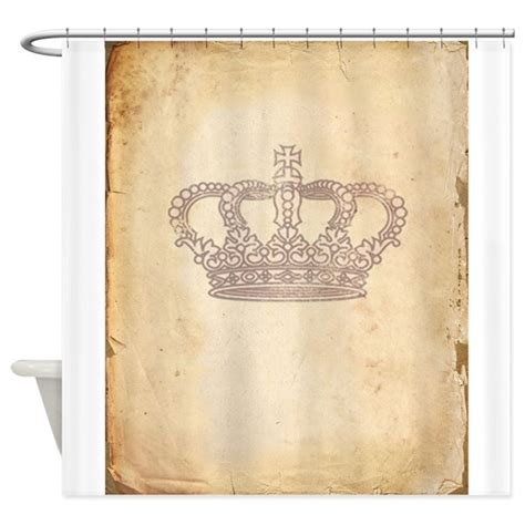 crown curtains vintage pink royal crown shower curtain by