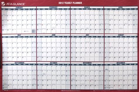Large Wall Calendar At A Glance Recycled Yearly Wall Calendar Large Wall