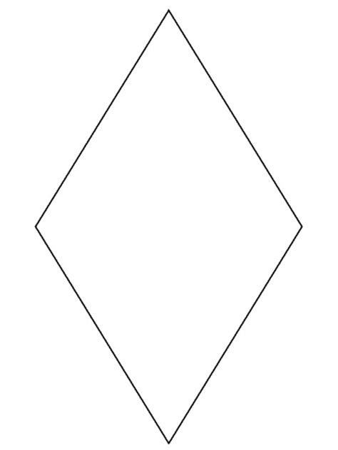 diamond coloring pages preschool pin preschool diamond shape pic on pinterest